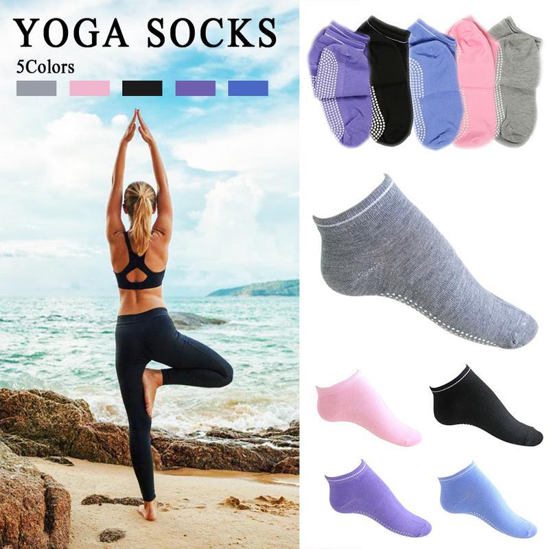 Sports Yoga Anti Slip Socks Candy Cotton Sweat Absorption Breathable Socks Silicone Gym Pilates Ballet Fitness Sport Socks