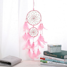 Pink two-ring dream catcher pink series pendant car gifts for girlfriend valentines day