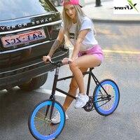 Новый бренд из углеродистой стали 20 дюймов колеса заднего тормоза Fiets Fixie женский дорожный велосипед с фиксированной передачей дети Bicicleta ве