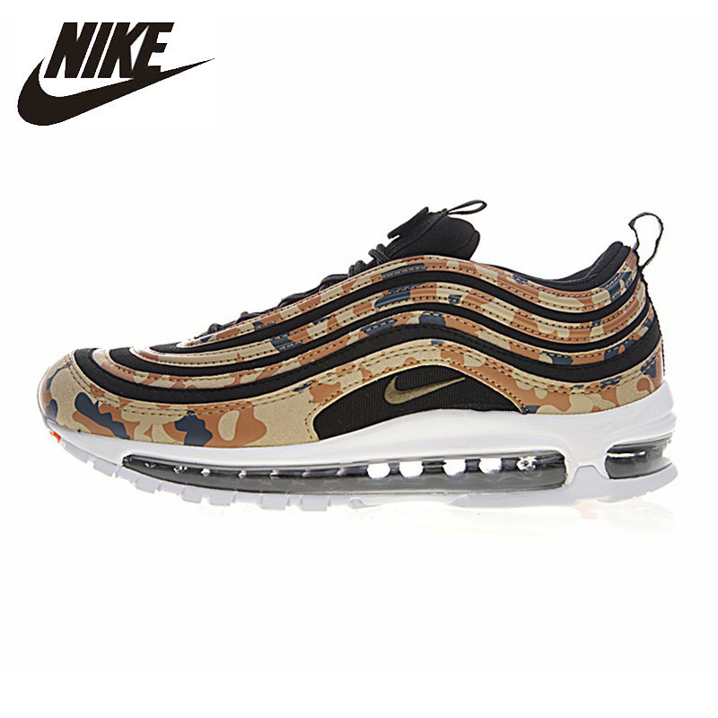 US $125.0 50% OFF|Nike Air Max 97 Premium QS Men's Vintage Running Shoes Non slip Comfortable Breathable Sport Shoes #AJ2614 204 AJ2614 200 in Running