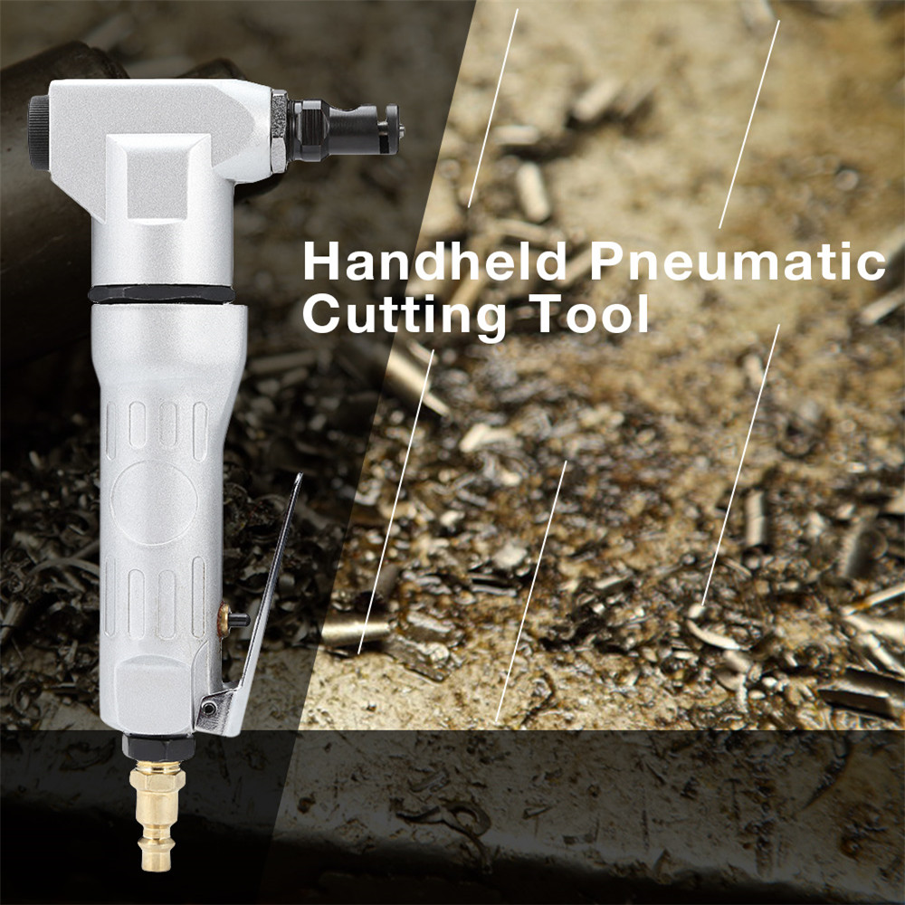 Professional Metal Sheet Cutter Handheld Air Nipper Pneumatic Cutting Tool Nibbler Drill Attachment Free Cutting Tools