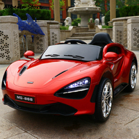 Outdoor Kids Ride on Toys Electric Super Car for Children Power Four Wheel Baby Car 720S New Remote Control LED Light Music Gift