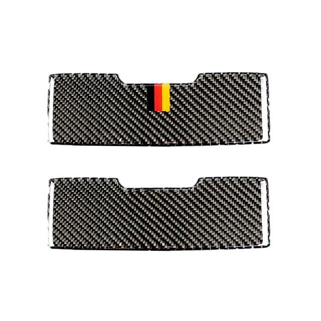 Dla Mercedes Benz C klasa W205 C180 C200 C300 GLC260 z włókna węglowego samochodów przednie światło do czytania Panel pudełko na okulary przeciwsłoneczne okładka