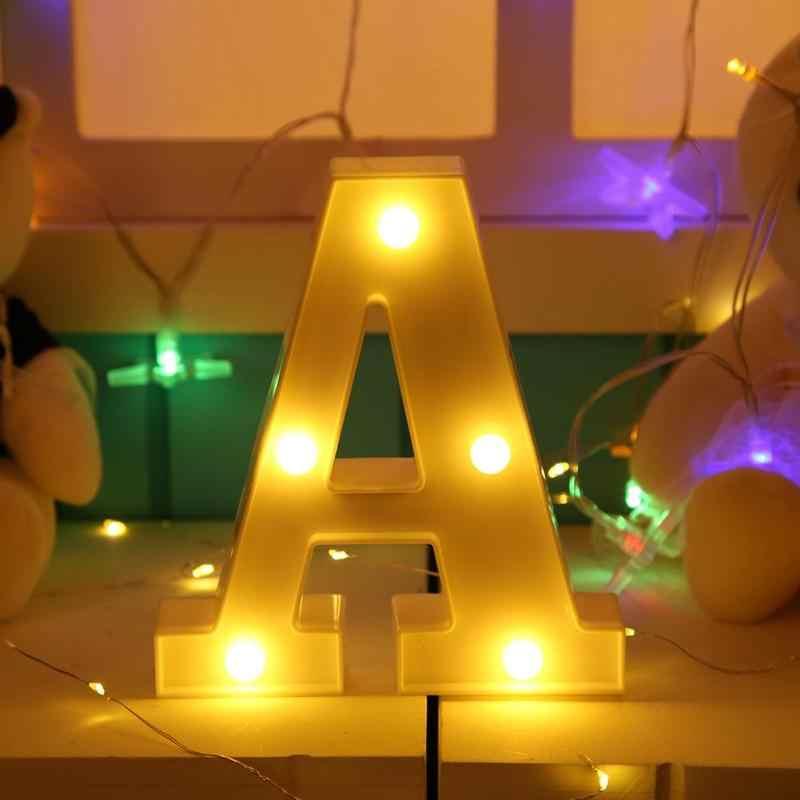 Plastic Led Licht 26 Brief Nachtlampje Alfabet Marquee Teken Lichten Indoor Opknoping Wandlamp Romantische Sfeer Verlichting