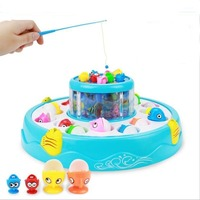 Game Magnets Fish Toys Girls Child Baby Muscial Electronic Fishing Rod Set Music Children Educational For Kids Unisex Plastic