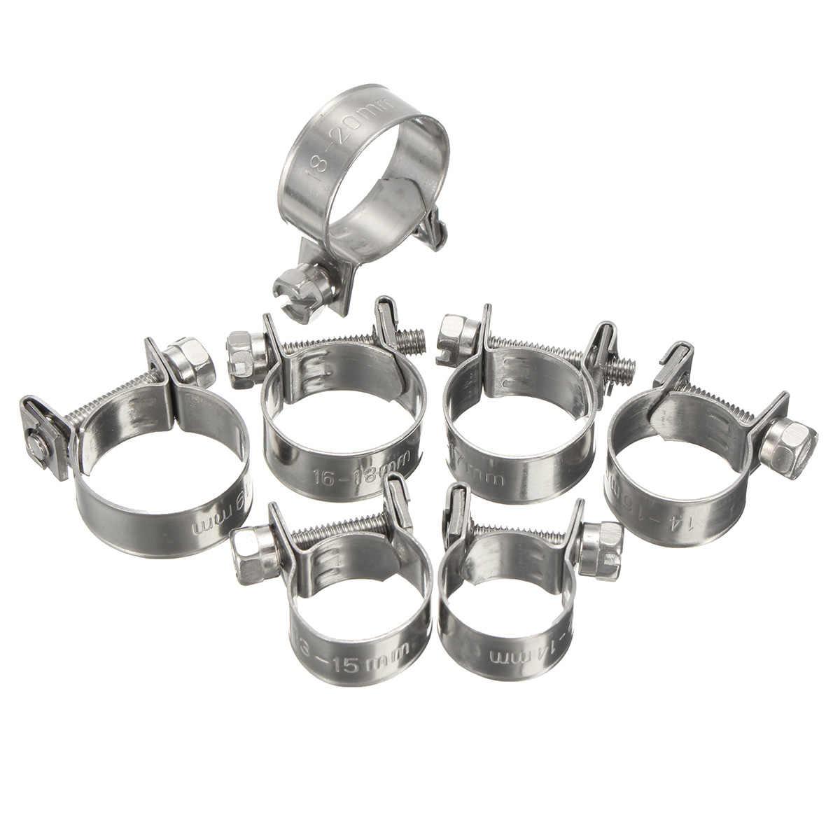 5 pièces collier de serrage en acier inoxydable collier de serrage pour tuyau d'eau de carburant pinces de serrage pour tuyau