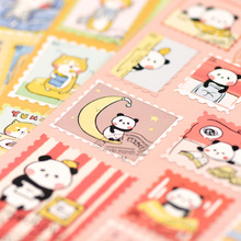 22pcs / 1 Sheets Creative Stamp Style PVC Waterproof Kawaii Sticker Japanese Cartoon Animal DIY Cute Label Stickers Scrapbooking
