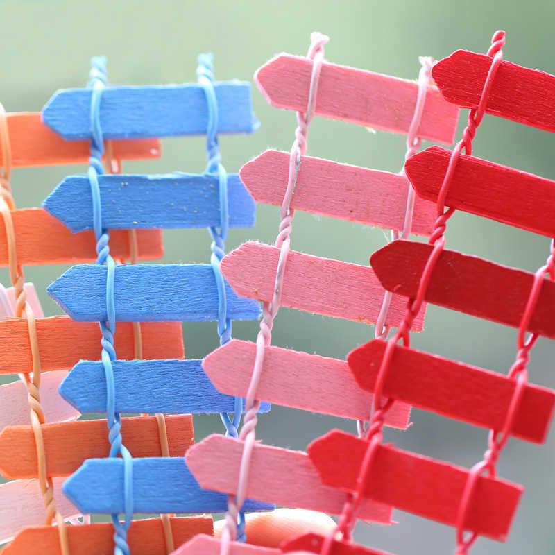 Miniaturas 1 pieza nueva Mini valla 10 colores Popular decoración para la casa Mona microlandcompletamente carnosidad para jardín de madera Kawaii
