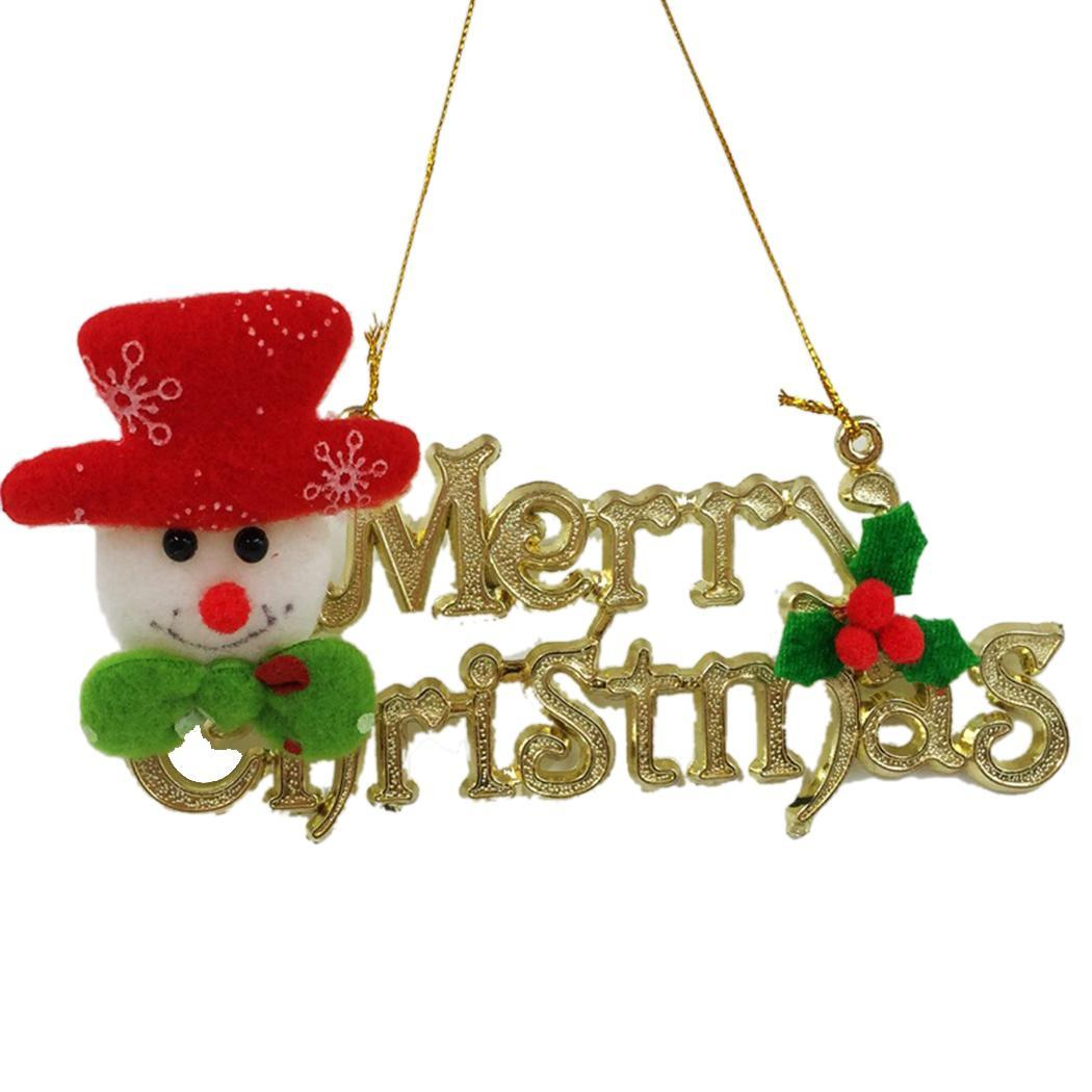 Ornaments Reindeer Bear Cloth Tree Hotel Home Christmas Hanging Snowman Dolls Letter Letter Decorations Christmas