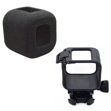 4 pcs Frame Housing Case Plastic Frame Case Bag + Windproof Foam Cover for Gopro Hero 5 4(China)