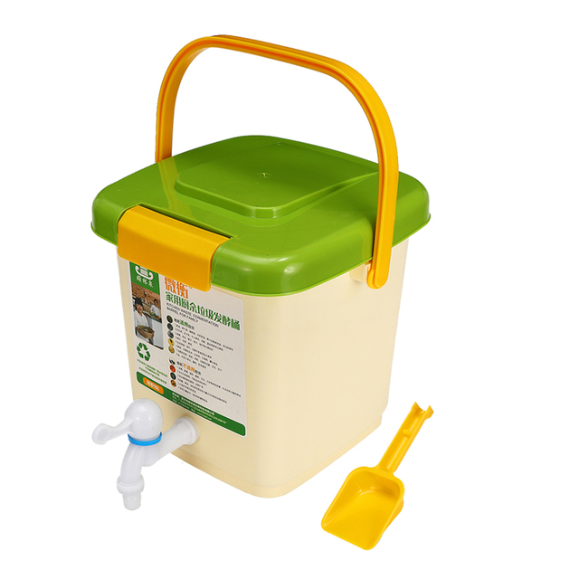 New 10L Household Recycle Composter Bucket Compost Barrel for Food Waste Fermentation for Organic Manure Garden Use 4