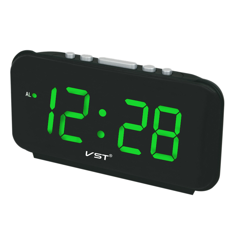 Alarm Clocks Home & Garden Glorious Vst Vst-806 Digital Led Alarm Clock Big Numbers Desk Clocks With Eu Plug Ac Power Electronic Clock With Led Light Time Display