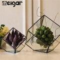Современный геометрический папоротник мох суккулентное стекло Террариум растительный горшок коробка художественный плантатор ювелирные ...