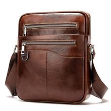 Casual Men Briefcase Cowhide Leather Business Bag Male Vintage Men's Messenger Bag Small Shoulder Bags Crossbody Bags For Men
