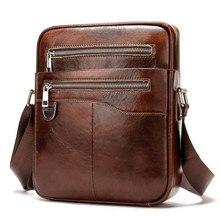 Homens casuais maleta de couro de couro bolsa de negócios masculino do vintage bolsa de mensageiro pequenos sacos de ombro crossbody sacos para homem