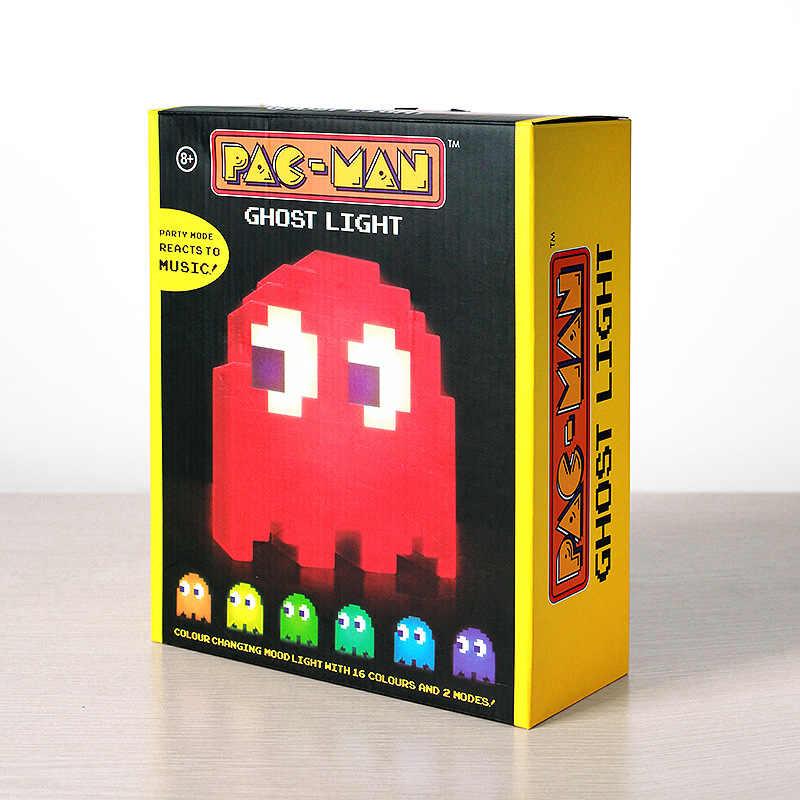 recargables Multicolor dibujos luz PacMan habitación animados para decoración LED nocturna luz de USB lámparas niños iluminación de fantasma noche c34RjLq5A
