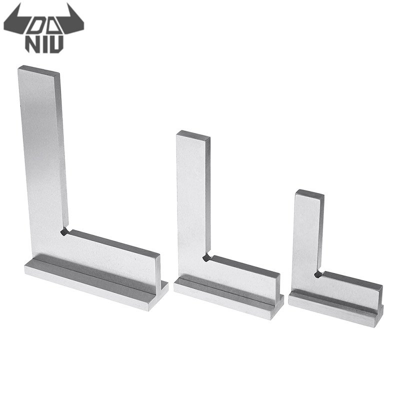 DANIU 50x40/75x50/100x70mm High Carbon Steel 90 Degree Flat Edge Square With Wide Base Angle Ruler Industrial Sqaure