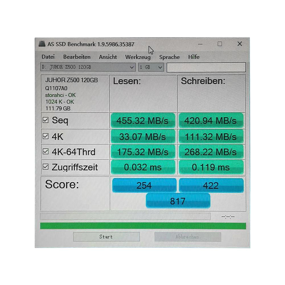 JUHOR Tragbare SATA 3 2,5 SSD 60G 120G 240G 2,5 zoll Externe Solid State Drive 6 GB/S