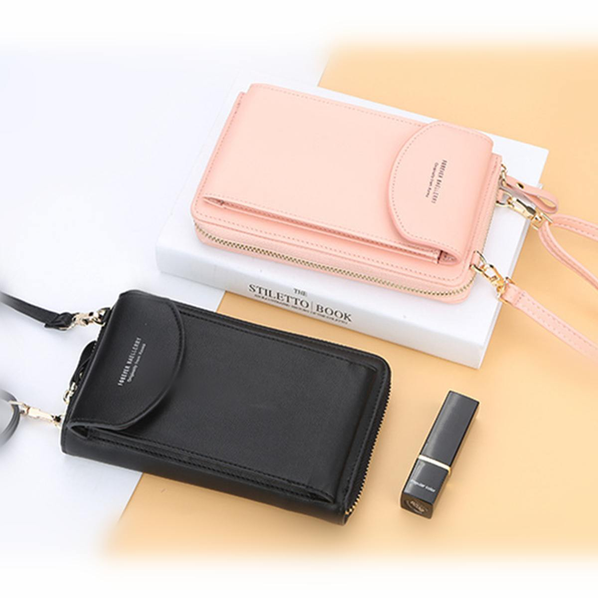 Osmond 2019 Fashion Mobile Phone Crossbody Shoulder Bag For Women Small Handbag Female Long Purse Coin Cell Phone Bags Black