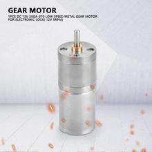 25GA370 Электрический редуктор коробки передач металлический редуктор низкая скорость высокий крутящий момент мотор-редуктор DC редуктор скорости для механической модели робота