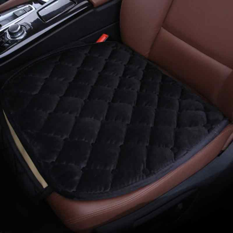Plush Non-slip Car Cushion Small Design Car Seat Covers Mat for Interior Car Accessories Wistiti car seat mat Diamond Pattern
