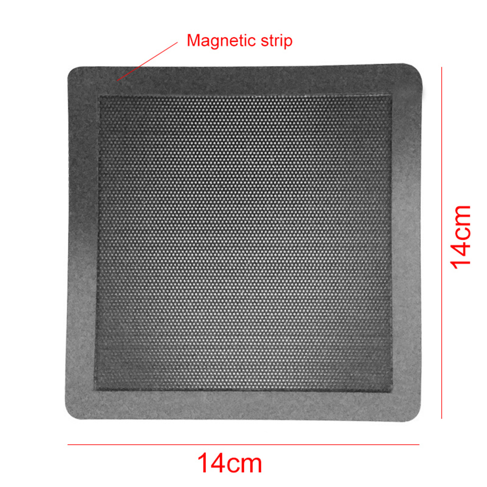 Купить с кэшбэком New Hot 14cm Computer Desktop PC Case Cooling Fan Magnetic Dust Filter Mesh Net Dustproof Cover Guard