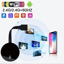 Dual Frequency 2.4G+5G 4K HD Chromecast HDMI Display Dongle WIFI Media Video Streamer Wireless For Google Chromecast