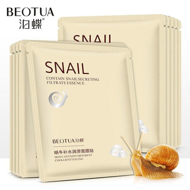 THE Snail face Mask Facial korean Moistening Moisture Refreshing Oil Control Skin Water Lubrication beauty nature republic 1