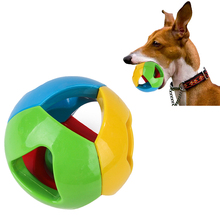 Dog Toys Creative Funny Pet Bell Ball Wearable Four Color Hollow Plastic Cat Training Interactive Supplies