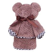 Быстросохнущие полотенца с изображением милого медведя в форме ананаса, дизайнерские полотенца, ультра-мягкие, длинные, впитывающие, сушильные, для ванной, домашний текстиль