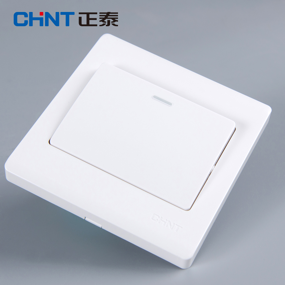 CHNT 86 Type Wall Switch NEW7D Elegant White Panel One Gang Two Way Light Switches in Switches from Lights Lighting