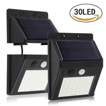 8/4/2/1pcs LED Solar Power Motion Sensor Wall Light 30 LED Waterproof Motion Sensor Night Security Wall Lamp Infrared Induction
