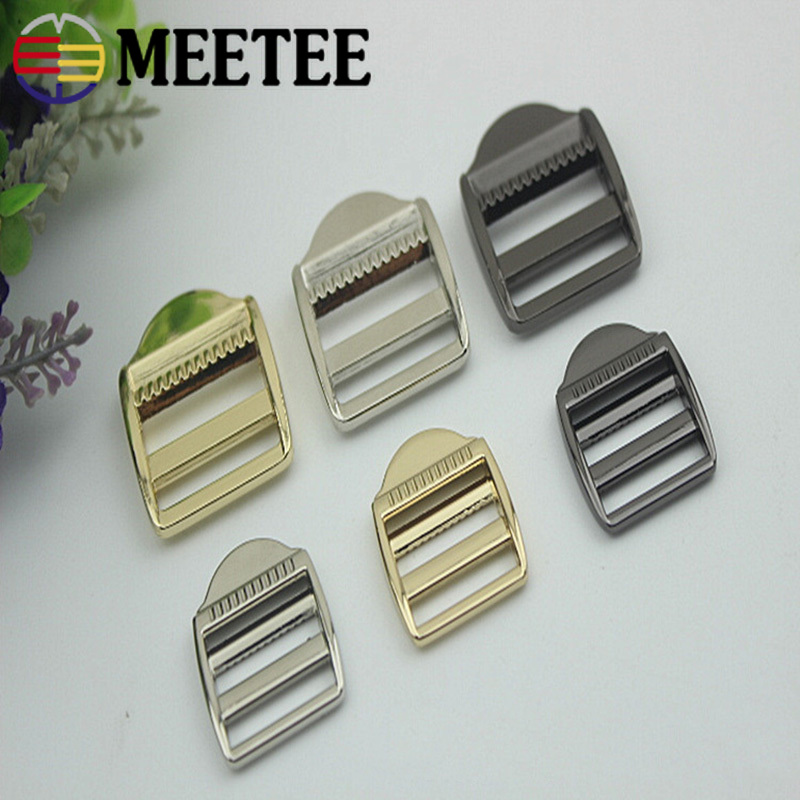 Meetee 4pcs 20/25mm Alloy Metal Buckle Adjustment Clothing Decoration Luggage Handbag Bag Strap Hardware Belt Accessories Ap481 Lovely Luster Arts,crafts & Sewing Apparel Sewing & Fabric