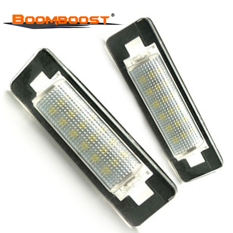 2pcs For Benz W210 <font><b>W202</b></font> E300 E55 C230 C43 AMG 3528 SMD Car <font><b>LED</b></font> Number License Plate Lamps OBC 18 <font><b>LED</b></font> image