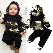 Pudcoco/комплект для мальчиков; От 0 до 3 лет США; повседневная одежда для малышей; топы с капюшоном для мальчиков; штаны; комплект одежды из 2 предметов