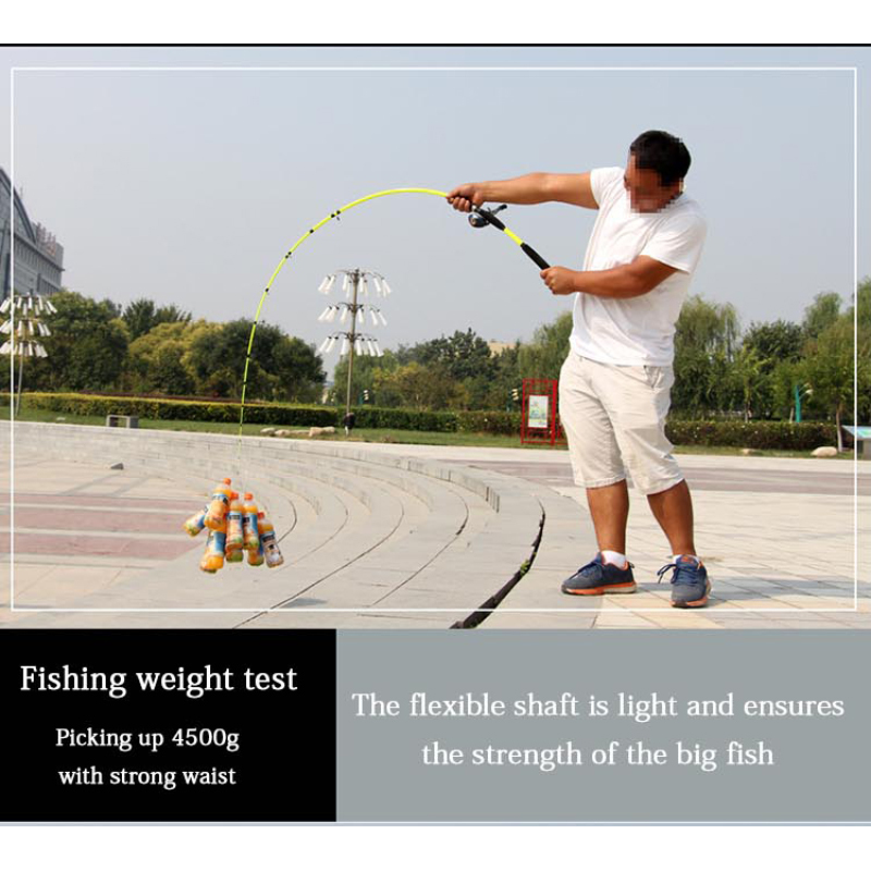 Flexible Fishing Rod Suitable to Bait and Lure Large Fishes Available in Snipping and Casting Type 1