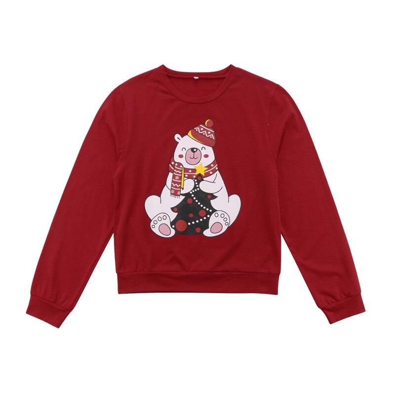 Family Matching Pullover Sweater Christmas Shirts Print Sweatshirt Cute Tops