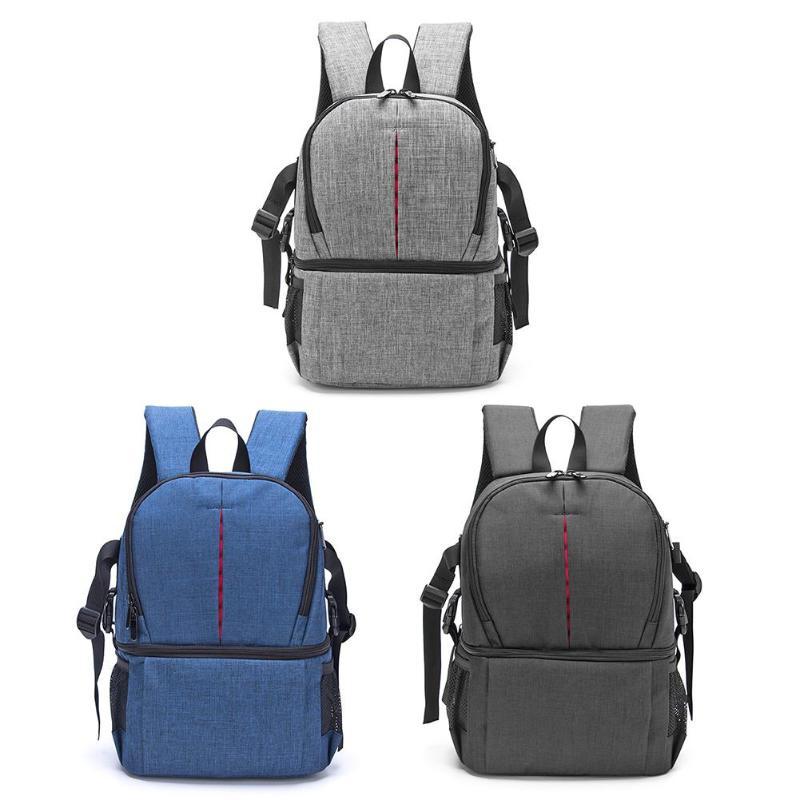Photo Camera Bag DSLR Video Waterprpof Oxford Fabric Soft Padded Shoulders Backpack SLR Bag Case For Digital Camera Lens Tripod