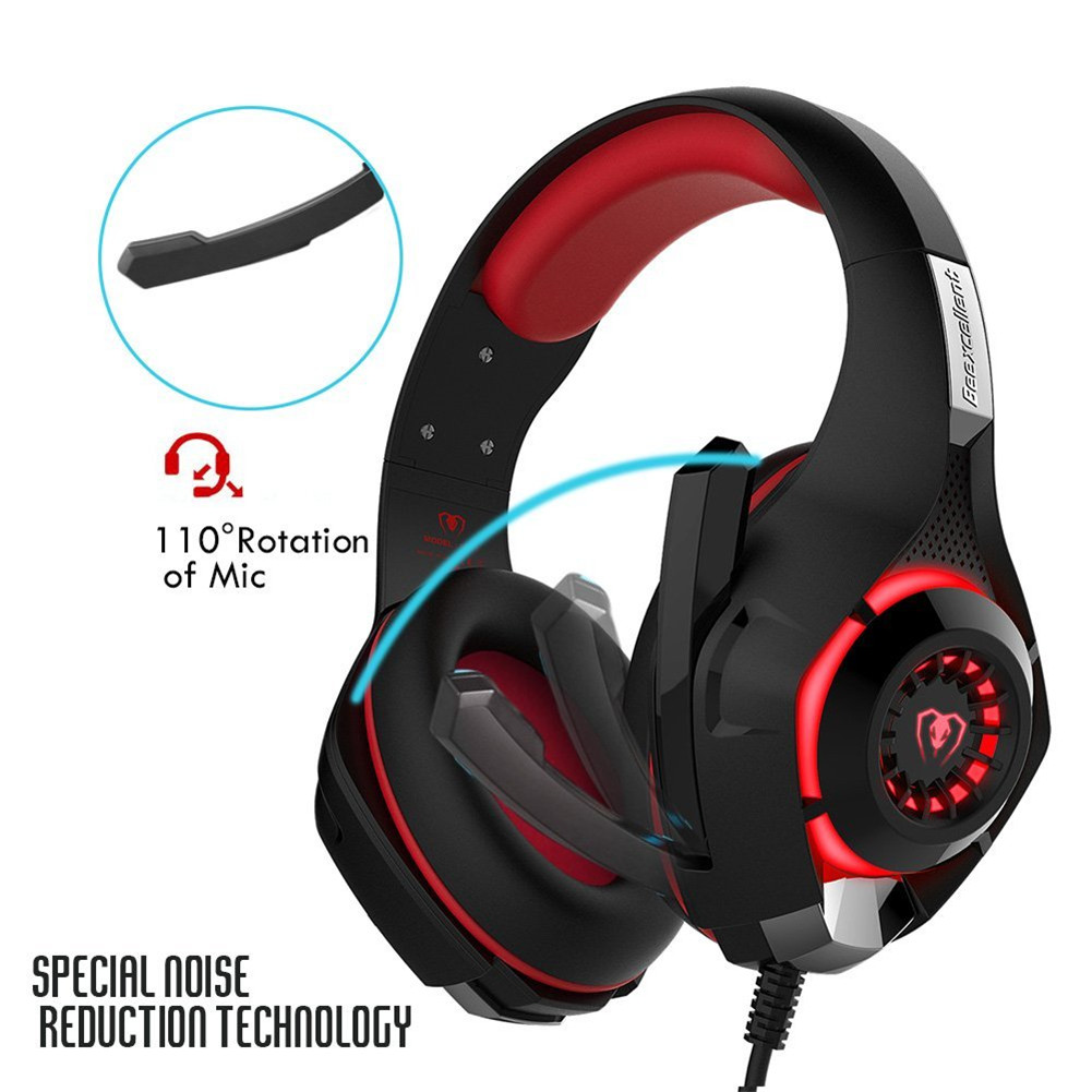 GM 1 Luminous LED E sports Gaming Headset Wired Gamer Headphones With Microphone Stereo PC Game Earphone in Headphone Headset from Consumer Electronics