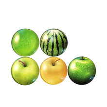 5pcs Fruit Fridge Magnets Glass Refrigerator Magnet Early Education Toys Home Decoration (Random Pattern)(China)
