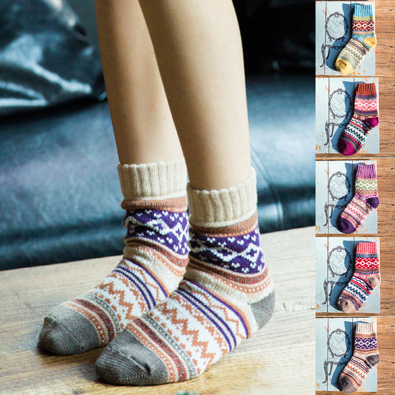 BBYES Women's Sock Woman Winter Warm Thick Cashmere Soft Wool Socks Female Casual Comfortable Cozy Socks New Fashion Lady Sock