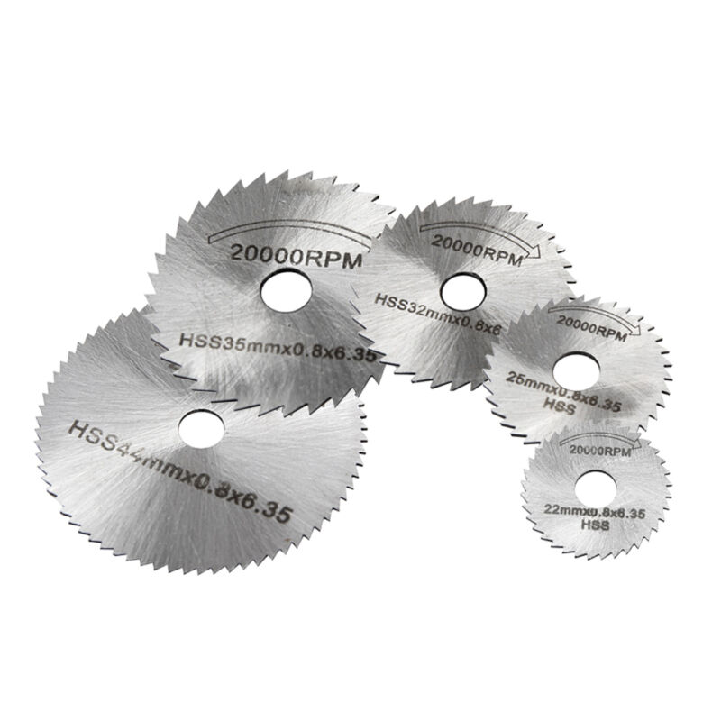 6pcs HSS Circular Cutting Saw Blade Cutter Discs 6mm Shank Mandrel High Quality Electric Grinder Saw Blades For Rotary Tool