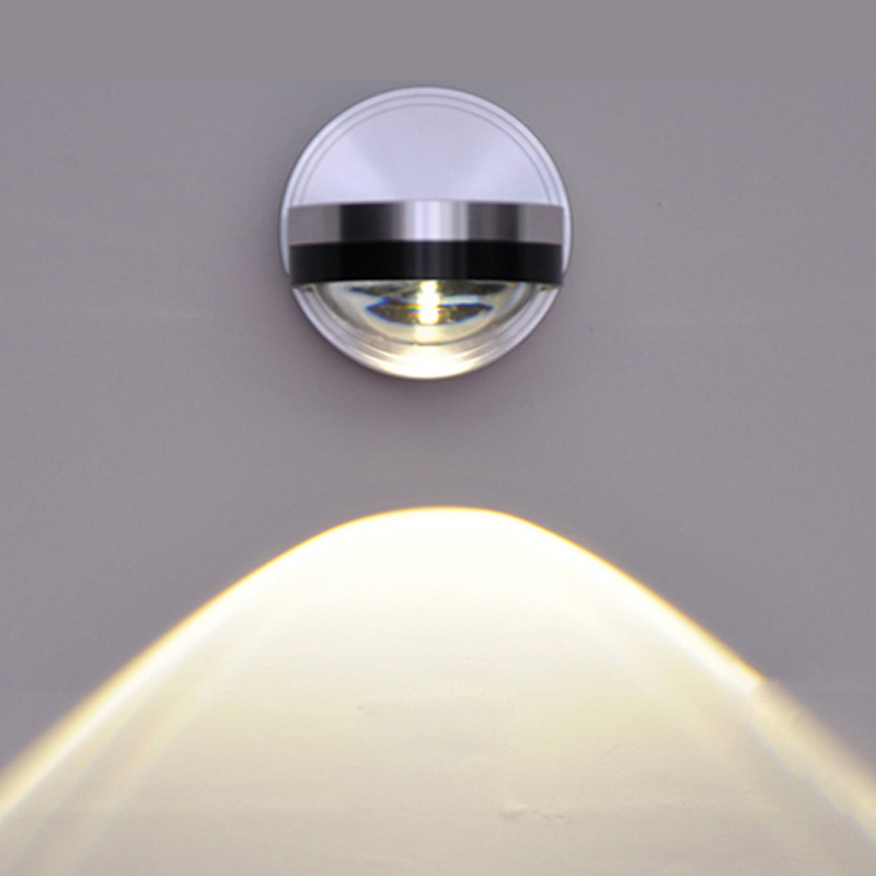 1w Led Wall Lamp Aluminum Mirror Light Crystal Light Ktv Bart Tv Cabinet Wall Lighting Ac85v~265v Carefully Selected Materials
