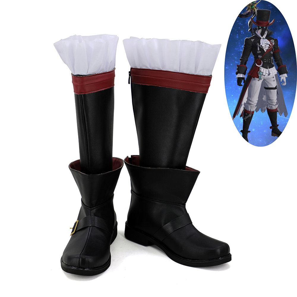 US $34 1 10% OFF|Final Fantasy XIV FF14 BLACK MAGE Plague Bringer Cosplay  Shoes Boots-in Shoes from Novelty & Special Use on Aliexpress com | Alibaba