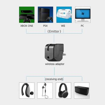 3.5mm Audio Controller Headphone Adapter with Mute Volume Control for PS4