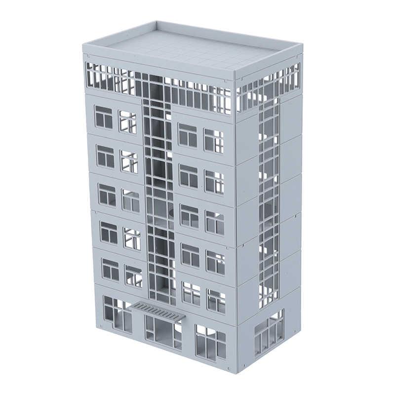 1/150 N Scale Plastic Skyscraper Building Model Sand Table Scene Assembling  House Children Gifts DIY Model Building Toys Crafts