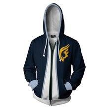 Fairy Tail Sweatshirt Cosplay Anime 3D Printed Zipper Hoodie