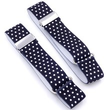 1 Pair Men Shirt Stay Garters Elastic Adjustable Armbands Resistance Belt Suspenders