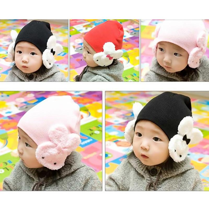 Girls' Baby Clothing Enthusiastic New 1pcs Cute Childrens Winter Warm Hat For Baby Rabbit Earmuffs Cap For Girls Boys Cartoon Bunny Bowknot Hat Can Be Repeatedly Remolded. Mother & Kids
