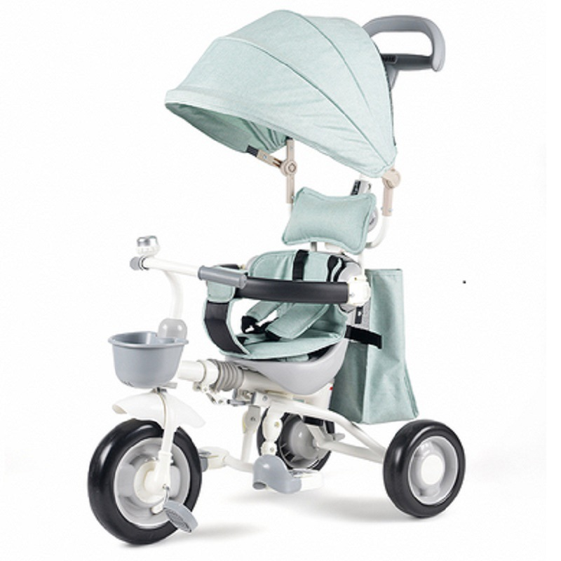 Edgar enfants Tricycle bébé poussette pliant panier vélo bébé panier